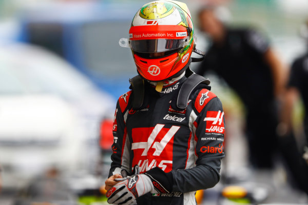 Suzuka Circuit, Japan. Saturday 08 October 2016. Esteban Gutierrez, Haas F1, in Parc Ferme after qualifying. World Copyright: Steven Tee/LAT Photographic ref: Digital Image _O3I6234