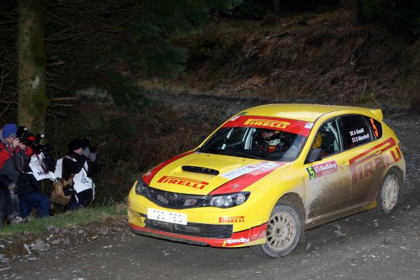 Bulldog Rally, Wales 28th March,Adam Gould/Sebastian Marshall - Subaru Impreza N14World Copyright: Ebrey/LAT Photographic
