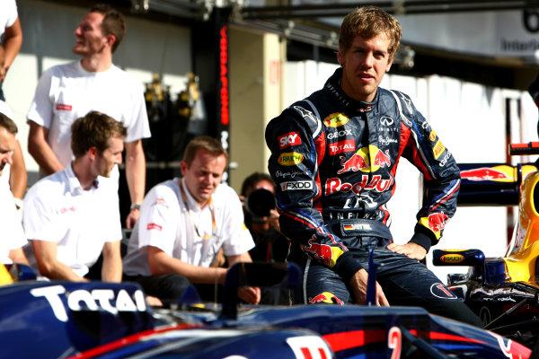 Interlagos, Sao Paulo, Brazil24th November 2011Sebastian Vettel, Red Bull Racing RB7 Renault. Portrait. World Copyright: Andy Hone/LAT Photographicref: Digital Image CSP26253