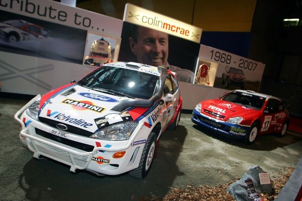Colin McRae tribute display. 