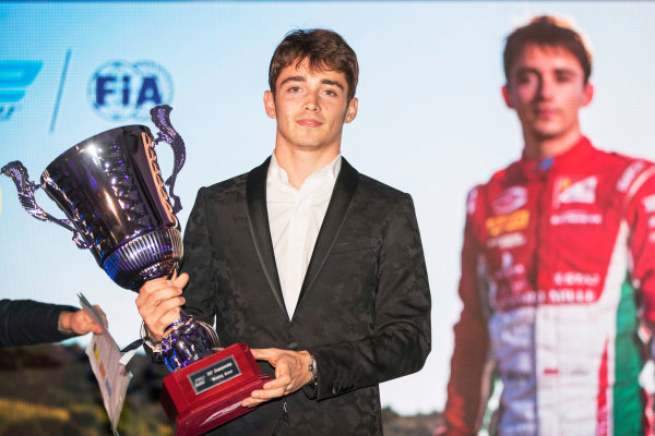 2017 Awards Evening. Yas Marina Circuit, Abu Dhabi, United Arab Emirates. Sunday 26 November 2017. Charles Leclerc (MCO, PREMA Racing).  Photo: Zak Mauger/FIA Formula 2/GP3 Series. ref: Digital Image _56I3922