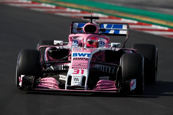 Circuit de Catalunya, Barcelona, Spain. Friday 09 March 2018. Esteban Ocon, Force India VJM11 Mercedes. World Copyright: Glenn Dunbar/LAT Images ref: Digital Image _X4I1620