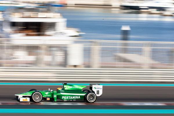 2014 GP2 Series Test 1  Yas Marina Circuit, Abu Dhabi, UAE.  Wednesday 12 March 2014. Rio Haryanto (INA) EQ8 Caterham Racing  Photo: Malcolm Griffiths/GP2 Series Media Service ref: Digital Image F80P5127