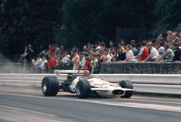 1970 Belgian Grand Prix.Spa-Francorchamps, Belgium.5-7 June 1970.Rolf Stommelen (Auto Motor und Sport/Brabham BT33 Ford) 5th position.Ref-70 BEL 35.World Copyright - LAT Photographic