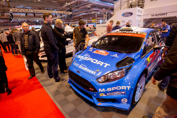 Autosport International Exhibition.  National Exhibition Centre, Birmingham, UK. Saturday 16 January 2016.  The M-Sport stand. World Copyright: Mike Hoyer/LAT Photographic. ref: Digital Image EL0G8609