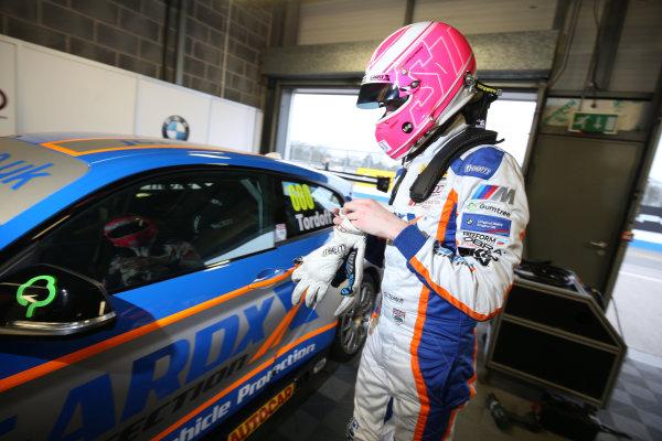 2016 British Touring Car Championship, Media Day, Donington Park, 22nd March 2016, Sam Tordoff (GBR) Team JCT600 with GardX BMW  World Copyright. Jakob Ebrey/LAT Photographic