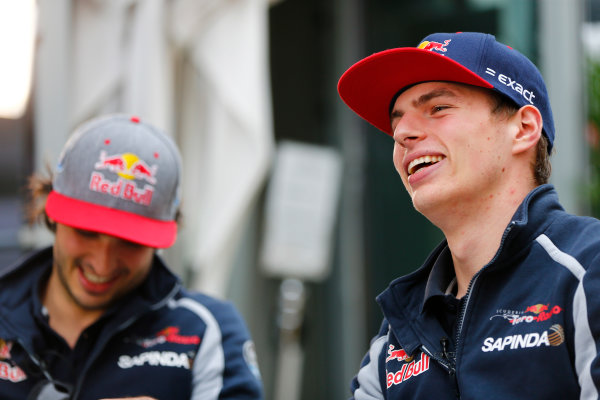 Sochi Autodrom, Sochi, Russia. Friday 29 April 2016. Max Verstappen, Toro Rosso. World Copyright: Andy Hone/LAT Photographic ref: Digital Image _ONZ7357