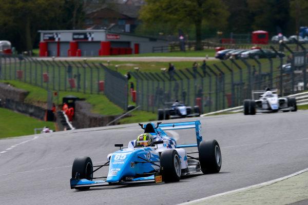 2016 BRDC British Formula 3 Championship, Brands Hatch, Kent. 16th - 17th April 2016. Enaam Ahmed (GBR) Douglas Motorsport BRDC F3. World Copyright: Ebrey / LAT Photographic.
