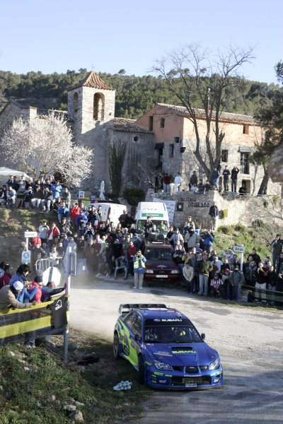 2006 FIA World Rally Champs. Round four Rally Catalunya Spain. 24-26th March 2006Petter Solberg, Subaru, action.World Copywright: Mcklein/LAT