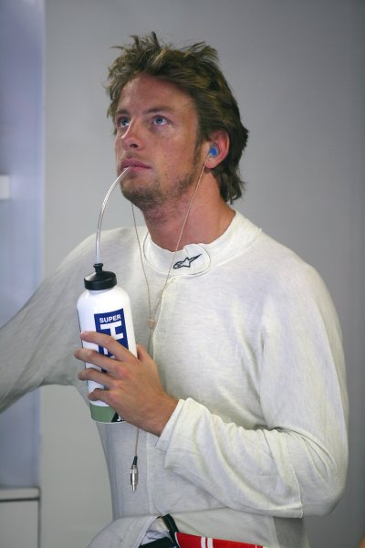 2005 Italian Grand Prix - Friday Practice,Monza, Italy. 2nd September 2005 Jenson Button, BAR Honda 007, portrait.World Copyright: Steve Etherington/LAT Photographic ref: 48mb Hi Res Digital Image