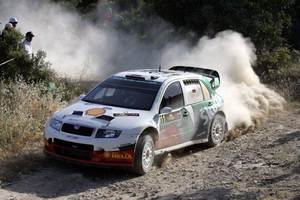 2005 World Rally ChampionshipCyprus Rally, Limassol, Cyprus. 13th - 15th May 2005.Armin Schwarz (Skoda Fabia WRC), action.World Copyright: McKlein/LAT Photographicref: Digital Image