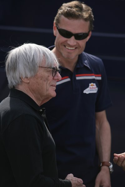 2006 San Marino Grand Prix - Thursday Preview Imola, Italy. 20th - 23rd April 2006 Bernie Ecclestone and David Coulthard, Red Bull RB2-Ferrari, portrait. World Copyright: Charles Coates/LAT Photographic.  ref: Digital Image ZK5Y7588