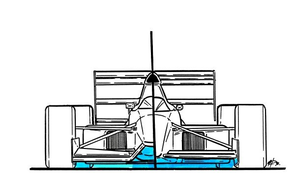 Tyrrell 019 1990 nose comparison with 018