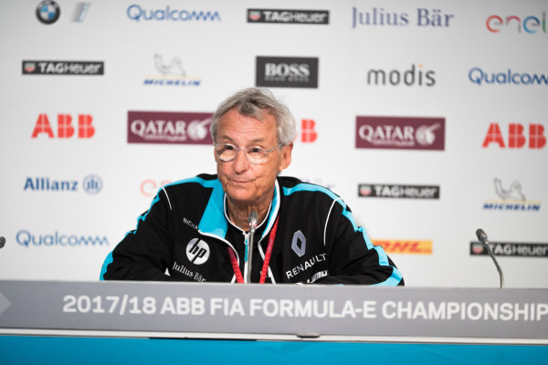 Jean-Paul Driot, Renault eDams, in the Friday press conference.