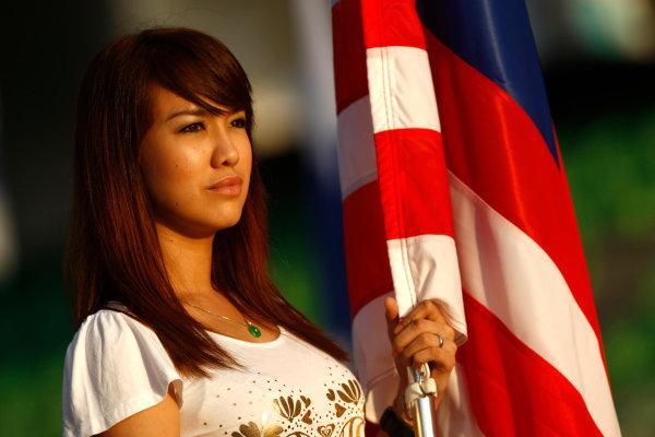 Sepang, Kuala Lumpur, Malaysia3rd April 2009Grid Girl. Glamour. World Copyright: Andrew Ferraro/LAT Photographicref: Digital Image _H0Y8257