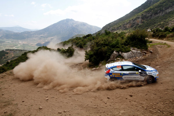 Round 06 - Rally Acropolis Greece. 24-27 May 2012. Alister Fisher, Ford Fiesta R2, Action. Worldwide Copyright: McKlein/LAT