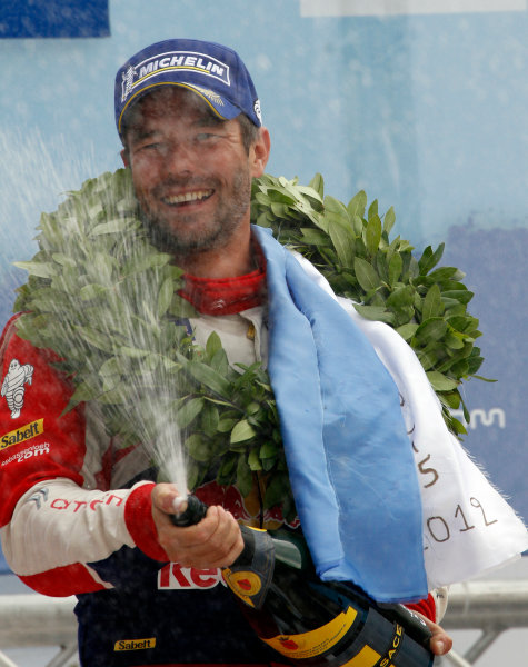 Round 06 - Rally Acropolis Greece. 24-27 May 2012. Sebastien Loeb, Citroen WRC, Podium. Worldwide Copyright: McKlein/LAT