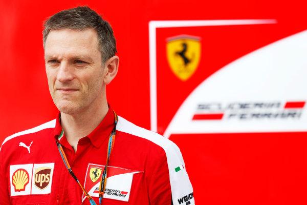 Sepang International Circuit, Sepang, Kuala Lumpur, Malaysia. Friday 27 March 2015. James Allison, Technical Director, Ferrari. World Copyright: Alastair Staley/LAT Photographic. ref: Digital Image _R6T4299