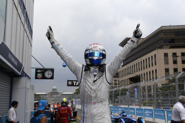 Race Winner Sam Bird Putrajaya E-Prix, Malaysia - 20th-22nd November 2014. Saturday 22 November 2014. Sam Bird (GBR)/Virgin Racing - Spark-Renault SRT_01E  Photo: Adam Warner/LAT/ Formula E ref: Digital Image _L5R4483