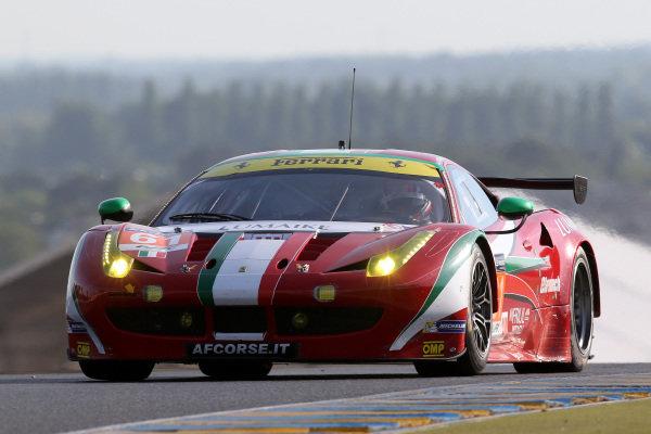 Luis Perez Companc (ARG) / Marco Cioci (ITA) / Mirko Venturi (ITA) AF Corse Ferrari 458 Italia. Le Mans 24 Hours, Le Mans, France, 12-14 June 2014.