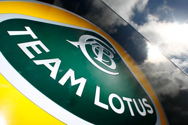 Silverstone, Northamptonshire, England8th July 2011Team Lotus Logo. Detail. Logos.World Copyright:Charles Coates/LAT Photographicref: Digital Image _W7C8087