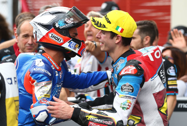 2017 Moto2 Championship - Round 6 Mugello, Italy Sunday 4 June 2017 Mattia Pasini, Italtrans Racing Team, Alex Marquez, Marc VDS World Copyright: Gold & Goose Photography/LAT Images ref: Digital Image 674772