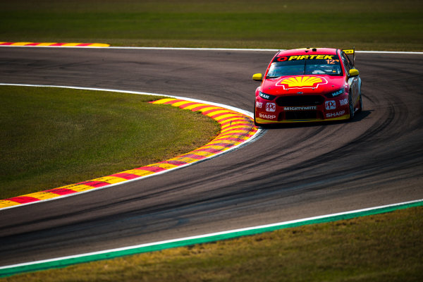 2017 Supercars Championship Round 6.  Darwin Triple Crown, Hidden Valley Raceway, Northern Territory, Australia. Friday June 16th to Sunday June 18th 2017. Fabian Coulthard drives the #12 Shell V-Power Racing Team Ford Falcon FGX. World Copyright: Daniel Kalisz/LAT Images Ref: Digital Image 160617_VASCR6_DKIMG_0279.JPG