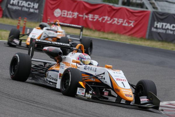 2017 Japanese Formula 3 Championship. Suzuka, Japan. 24th - 25th June 2017. Rd 10 & 11. Rd10 Winner Sho Tsuboi ( #1 Corolla Chukyo Kuo TOM?S F317 ) action World Copyright: Masahide Kamio / LAT Images. Ref: 2017JF3_Rd10_01