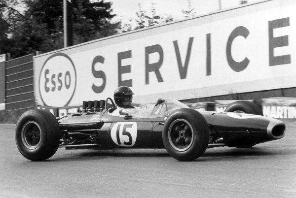 1964 Belgian Grand Prix.Spa-Francorchamps, Belgium. 14 June 1964.Dan Gurney, Brabham BT7-Climax, 6th position, action.World Copyright: LAT Photographic
