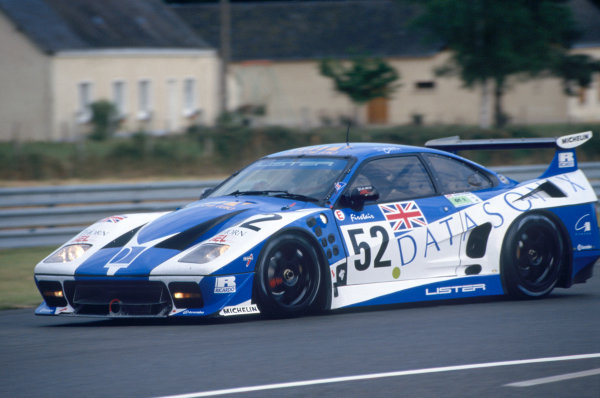 Le Mans, France. 17th - 18th June 1995. Geoff Lees/Dominic Chappell/Rupert Keegan (Lister Storm GTS-Jaguar), retired, action. World Copyright: LAT Photographic. Ref: 95LM04.
