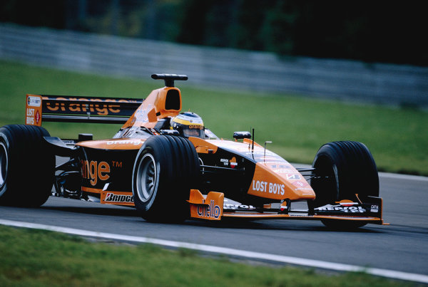2000 European Grand Prix.Nurburgring, Germany. 19-21 May 2000.Pedro de la Rosa (Arrows A21 Supertec) 6th position.Ref-2K EURO 73.World Copyright - Gavin Lawrence/LAT Photographic