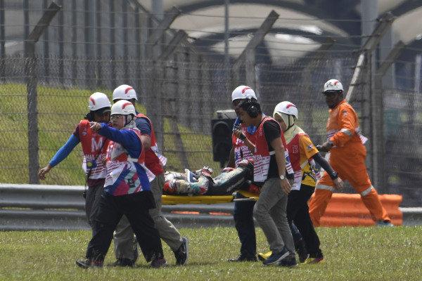 Ayumu Sasaki, SIC Racing Team after his crash