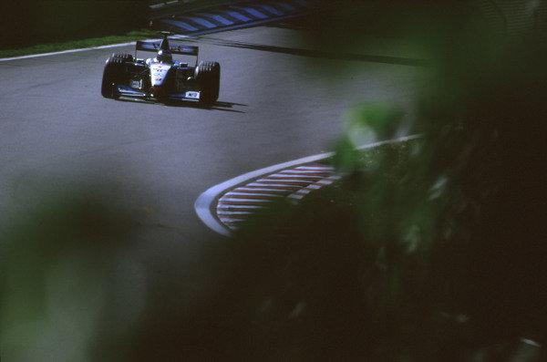 1999 Canadian Grand Prix. Montreal, Quebec, Canada. 11-13 June 1999. Mika Hakkinen (McLaren MP4/14 Mercedes-Benz) 1st position. Ref-99 CAN 05. World Copyright - LAT Photographic