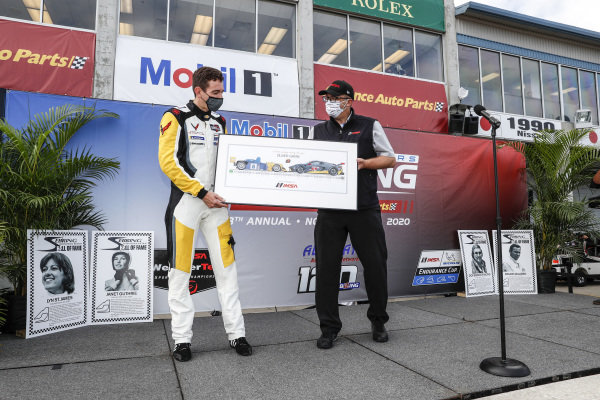 #4 Corvette Racing Corvette C8.R, GTLM: Oliver Gavin presentation with IMSA President John Doonan