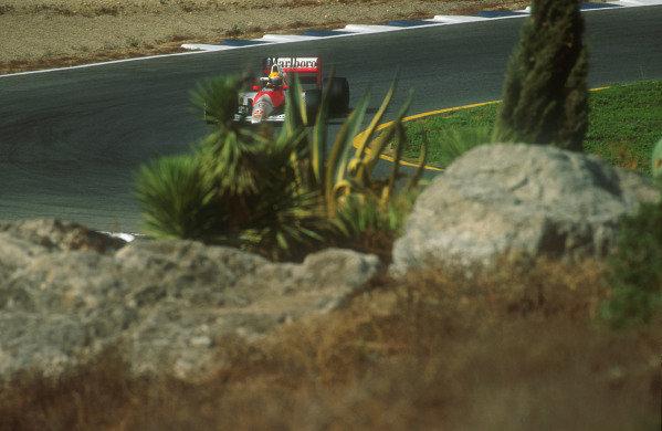 1990 Spanish Grand Prix.Jerez, Spain.28-30 September 1990.Ayrton Senna (McLaren MP4/5B Honda). He exited the race after he had a holed radiator.Ref-90 ESP 23.World Copyright - LAT Photographic