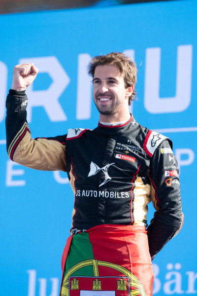 Race winner Antonio Felix da Costa (PRT), DS Techeetah celebrates on the podium