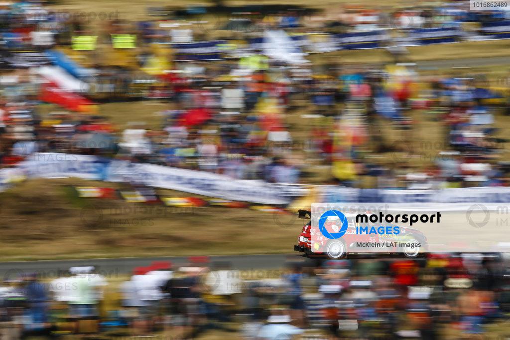 Craig Breen in the Panzerplatte arena on Rallye Deutschland