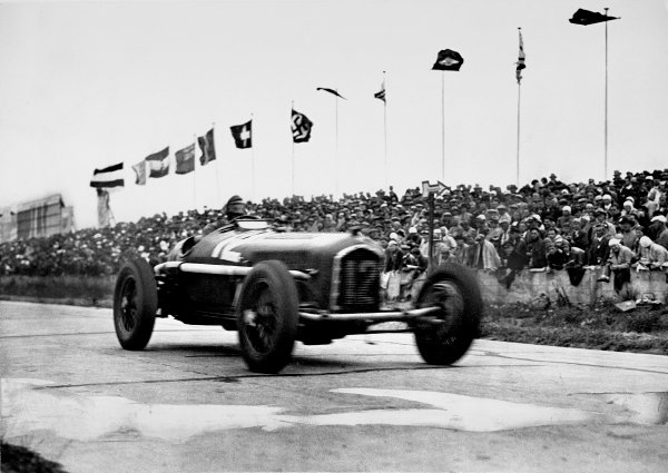 Nurburgring, Germany. 28 July 1935.Tazio Nuvolari (Alfa Romeo Tipo-B P3), 1st position. His greatest victory. Ref-Autocar S65/1578. Published Autocar 2/8/1935.World Copyright - LAT Photographic