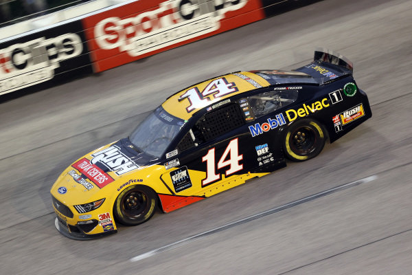 Clint Bowyer, driver of the #14 Rush/Mobil Delvac 1 Ford, Copyright: Chris Graythen/Getty Images.