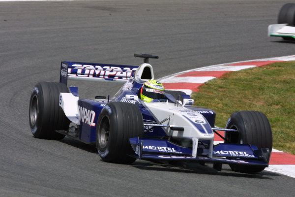 2001 Spanish Grand PrixCatalunya, Barcelona, Spain. 27-29 April 2001.Ralf Schumacher (Williams FW23 BMW).World Copyright - LAT Photographicref: 8 9 MB Digital File