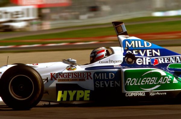 Montreal, Quebec, Canada.14-16 June 1996.Gerhard Berger (Benetton B196 Renault) failed to finish after spinning out on lap 27.Ref-96 CAN 12.World Copyright - LAT Photographic