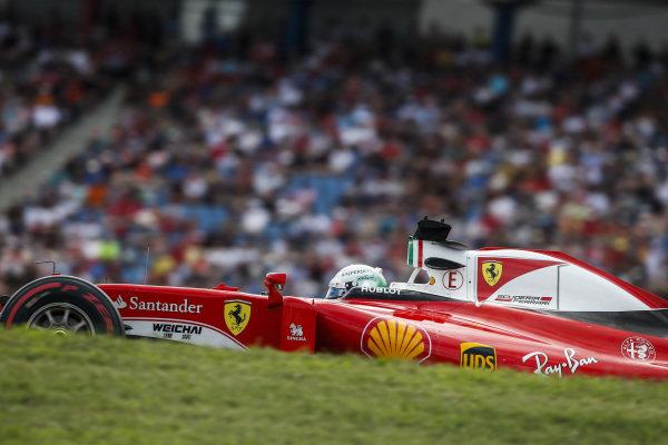 Sebastian Vettel (GER) Ferrari SF16-H at Formula One World Championship, Rd12, German Grand Prix, Qualifying, Hockenheim, Germany, Saturday 30 July 2016. BEST IMAGE