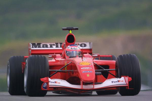 2001 Malaysian Grand Prix.Sepang, Kuala Lumpur, Malaysia. 16-18 March 2001.Rubens Barrichello (Ferrari F2001) 2nd position.World Copyright - LAT Photographicref: 8 9MB DIGITAL IMAGE