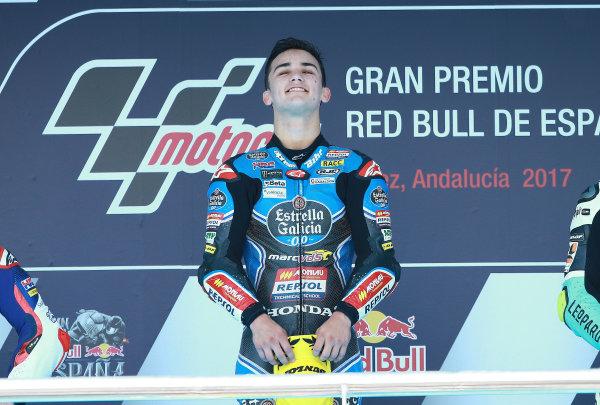 2017 Moto3 Championship - Round 4 Jerez, Spain Sunday 7 May 2017 Podium: race winner Aron Canet, Estrella Galicia 0,0 World Copyright: Gold & Goose Photography/LAT Images ref: Digital Image 668715