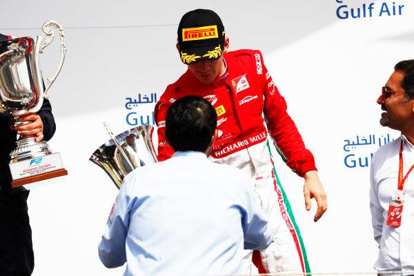 2017 FIA Formula 2 Round 1. Bahrain International Circuit, Sakhir, Bahrain.  Saturday 15 April 2017. Charles Leclerc (MCO, PREMA Racing)  Photo: Zak Mauger/FIA Formula 2. ref: Digital Image _W6I0497