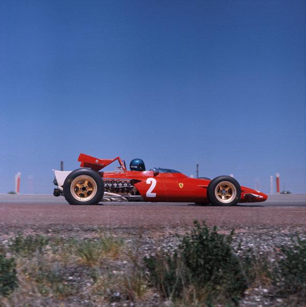 1970 Spanish Grand Prix. Jarama, Madrid, Spain. 17th - 19th April 1970. Jacky Ickx (Ferrari 312B), retired, action.  World Copyright: LAT Photographic. Ref:  70MF ESP 01.