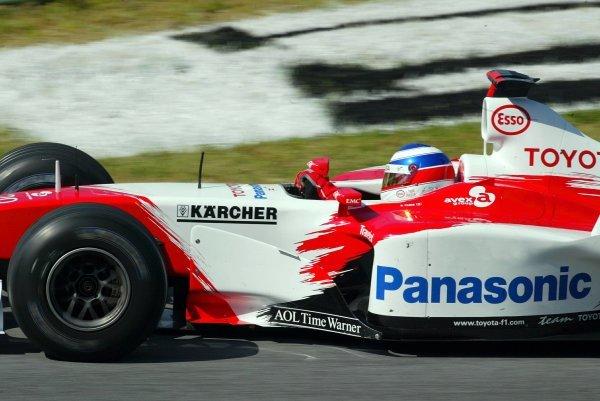 Olivier Panis (FRA) Toyota TF103.Formula One World Championship, Rd6, Austrian Grand Prix, A1-Ring, Austria, 17 May 2003.DIGITAL IMAGE