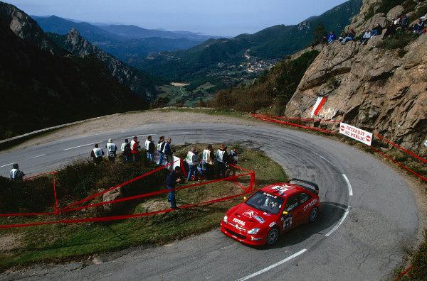 2002 World Rally ChampionshipTour De Corse, Corsica. 8th - 10th March 2002.Philippe Bugalski/Jean-Paul Chiaroni, Citroen Zsara, 4th position overall.World Copyright: McKlein/LAT Photographicref: 35mm Image 02 WRC 13