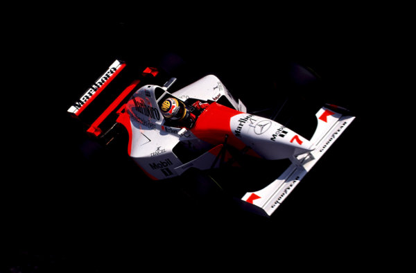 1995 Italian Grand Prix.Monza, Italy.8-10 September 1995.Mark Blundell (McLaren MP4/10B Mercedes) 4th position.World Copyright - LAT Photographic
