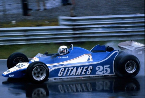 1980 Canadian Grand Prix.Montreal, Quebec, Canada.26-28 September 1980.Didier Pironi (Ligier JS11/15 Ford), 3rd position. He won on the road but was penalised for jumping the start.World Copyright - LAT Photographic